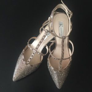 INC International Concepts Rhinestone Evening Pump